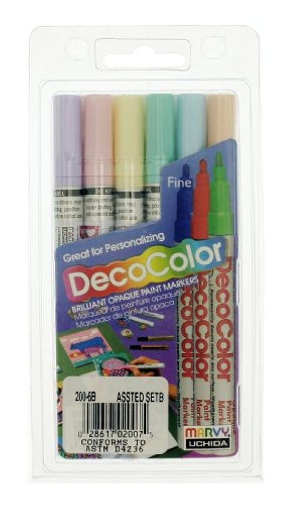 Uchida 200-6B 6-Piece Decocolor Fine Point Paint Marker Set vihxruferhq63280
