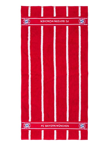 FC Bayern München Duschtuch, offizielles Handtuch rot-weiß für FCB Fans