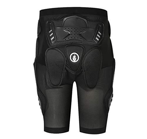 Wolfbike Off-Road Panzerhose Drop Resistance Hosen Motorrad Hüftpolster Hose, Unisex-Erwachsene, schwarz, Medium