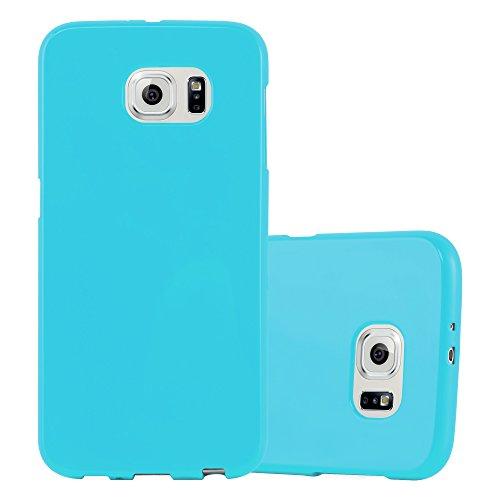 Preisvergleich Produktbild Cadorabo Hülle für Samsung Galaxy S6 in Jelly HELL BLAU Handyhülle aus flexiblem TPU Silikon Silikonhülle Schutzhülle Ultra Slim Soft Back Cover Case Bumper