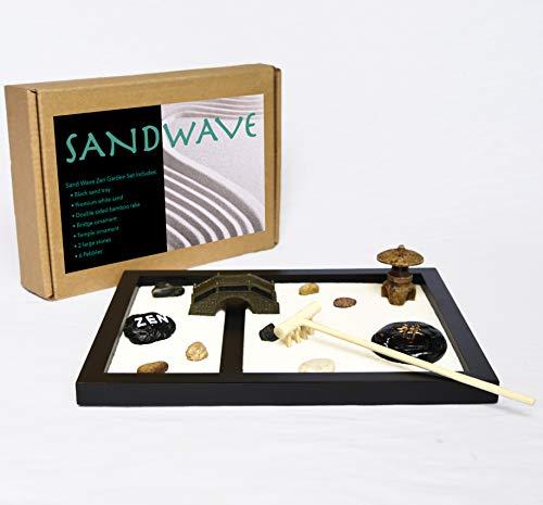 Sand Wave Zen Garden | Meditation Decor | Japanese Decor Zen Garden Kit | Zen Decor for Your Home Or...