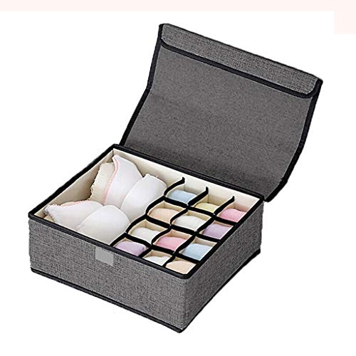 Tie Box Chambre Accueil Voyage Multi-Fonction Tissu de Stockage Boîte de Finition de Grande capacité Multi-réseau Portable Lavable Boîte de Rangement