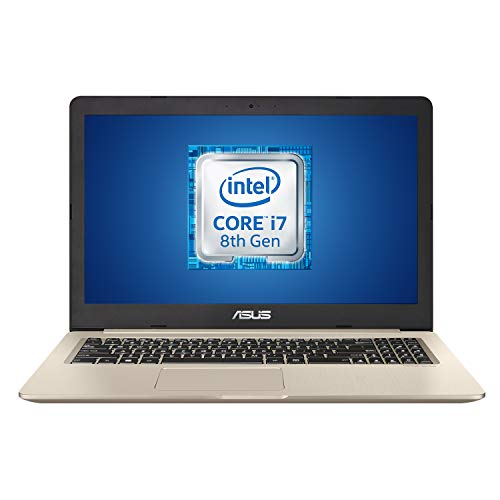 Asus VivoBook PRO 15 N580GD-DM605T, Notebook con Monitor 15,6 , Anti-Glare, Intel Core i7-8750H, RAM 16GB, Grafica NVIDIA GeForce GTX 1050, 1TB HD SATA + 512GB SSD PCIE, Windows 10, Oro metallizzato