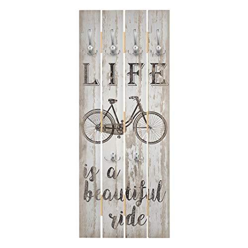 Bilderwelten Wandgarderobe Holz Paneel - Beautiful Ride - Haken Chrom - Hoch 100 x 40cm