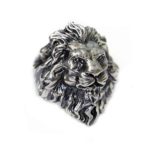 LINSION TA128 - Anello da uomo in argento Sterling 925 con re del leone e Argento, 33, cod. TA128