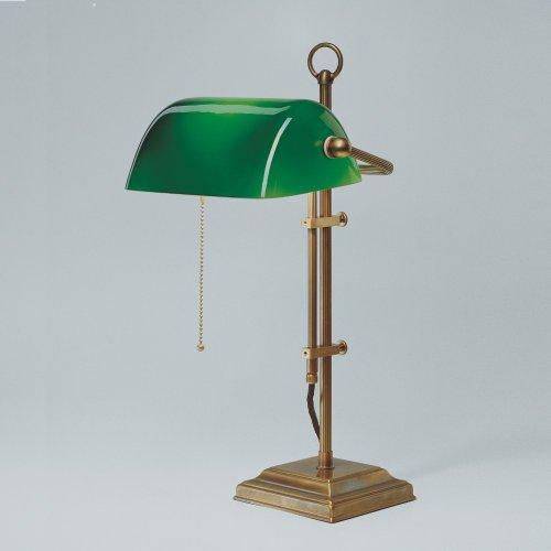 Berliner Messing -  Bankerlampe