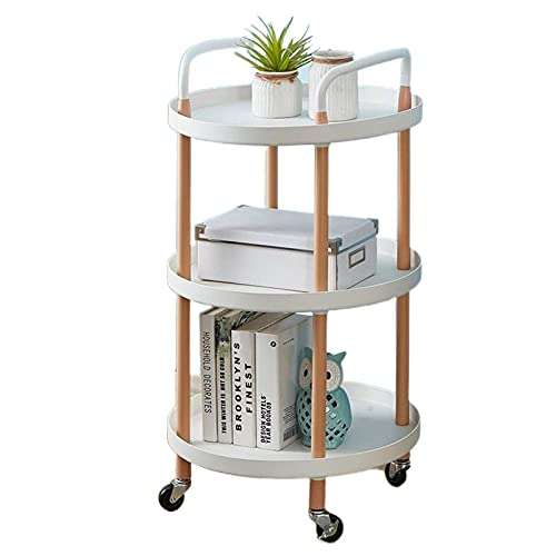 N\C Multifunctional Trolley Nordic Style Movable small Coffee Table Minimalist Creative Storage Rack Kitchen Living Room Bedroom Storage Shelves