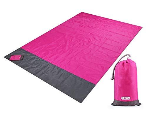 Waterproof Beach Towel Blanket Pocket Sand Free Towel Large Portable Mat Beach Camping Outdoor Towel Beach Picnic Mat Towel (Color : B, Size : 200x210cm)
