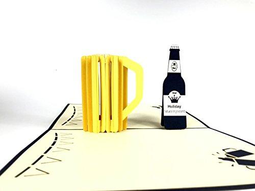 Birra 3D laser Cut pop up vintage regali di compleanno biglietto di auguri cartoline Crafts con...