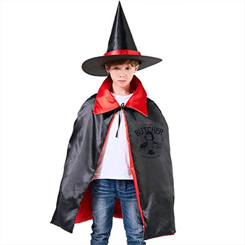Bill The Butcher Gangs of New York Unisex Kids Hooded Cloak Cape Halloween Party Decoration Role Cosplay Costumes Outwear Red