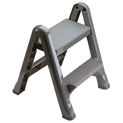 Rubbermaid Commercial Products FG420903 Two-Step Folding Stepstool (300-Pound Load Capacity, 22-7/8-Inches x 21' Depth x 18-7/8-Inches)