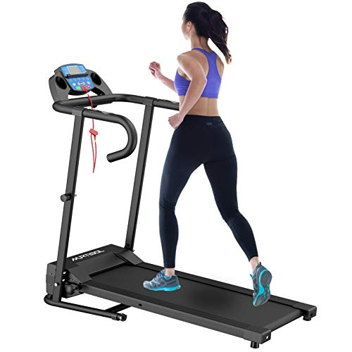 Murtisol 1100W Electric Folding Treadmill with LCD Display, Pad Holder, 12 Preset Programs...