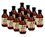 PACK OF 12 - G Hughes Smokehouse Sugar Free Hickory Flavored BBQ Sauce, 18 oz