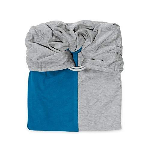 Bufanda, pequeña, sin nudo, color gris e iris Chiné/Bleu Canard Talla:Standard