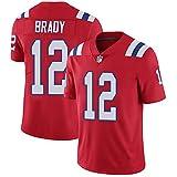 Camiseta de los hombres Patriots de fútbol americano Jersey de Nueva Inglaterra #12 Brady Player Jersey Limitado Jersey Transpirable Ropa Deportiva para Hombres Uniforme de Fútbol Gruby Camisetas