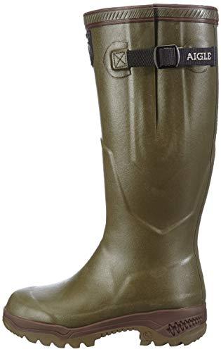 Aigle Parcours 2 ISO, Stivali di Gomma da Lavoro Unisex-Adulto, Verde (Kaki), 50 EU