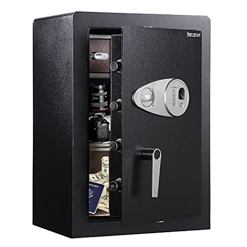 Biometric safe SECUSTAR 585 Large security home safe 2.03 Cubic Feet Safe box fingerprint jewelry safe for home