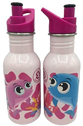 WR Botella de Agua de Acero Inoxidable con Aislamiento al vacío Botella de Bebida de Doble Pared 500ml (Rosa-PESS)