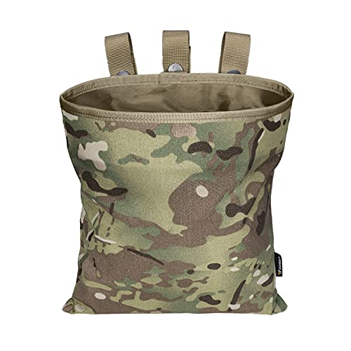 IDOGEAR MOLLE Dump Pouch Tactical Mag Recovery Pouch Drawstring Magazine Recycling Pouch Airsoft Hunting Gear (A:Multicam)
