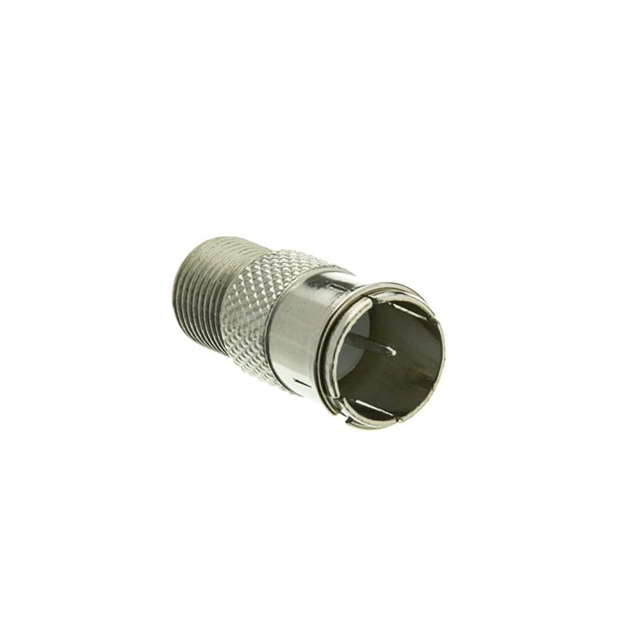 GOWOS F-pin Coaxial Quick Connect Adapter, Threaded F-pin Female to Quick F-pin Male