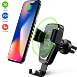 Caricatore Wireless Auto,10W Caricabatteria Rapido Vento d'Aria Culla Supporto Telefono, Auto Air Vent Phone Holder per iPhone X/XS/XR/iPhone 8/8 Plus, Samsung Galaxy Note 8/ S8/ S9/ S9+/ S8+