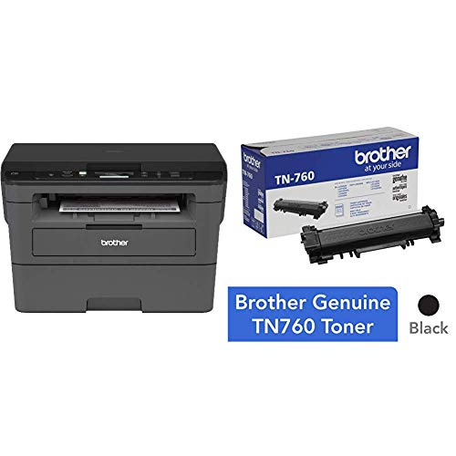Brother Compact Monochrome Laser Printer, HLL2390DW with High Yield Black Toner