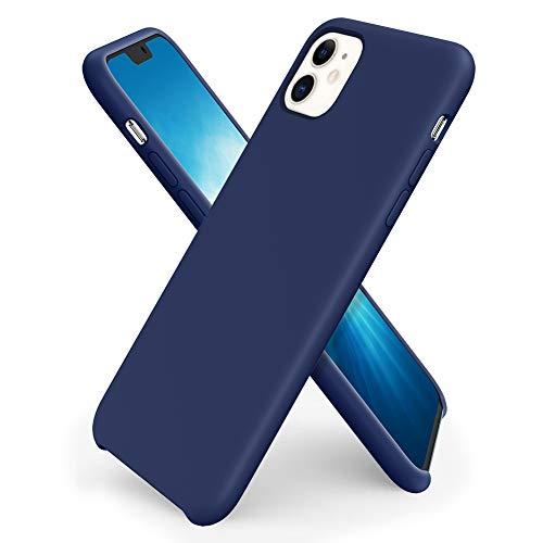 ORNARTO iPhone 11 Silikon Hülle, Hülle Ultra Dünne Flüssig Silikon Handyhülle Schutz für iPhone 11 (2019) 6,1 Zoll -Königs Blau