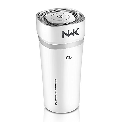 NWK Car Portable Cordless Ozone Generator Car Air Freshener Odor Eliminator Cigarette Smoke and Bad Odors for Auto or RV