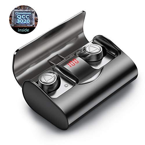 Auriculares inalámbricos In Ear Bluetooth 5.1 IHOUMI, para Hacer Deporte, Auriculares estéreo 6D de Alta fidelidad, IPX7 Impermeable,con Caja de Carga y micrófono, Control táctil