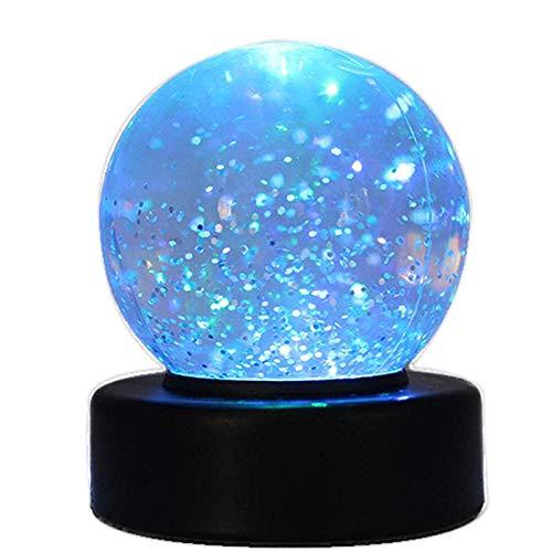 Playlearn swgb Glitter Ball–Bola de nieve con cambio de color LED Humor Luz