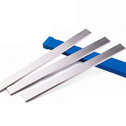 YAOBAO 3 Stück Hobelmesser, HSS Nachschleifbare Hobelmesser Klinge, Streifenhobelmesser, Robuste Und Präzise Schnitte, 3X25x300mm