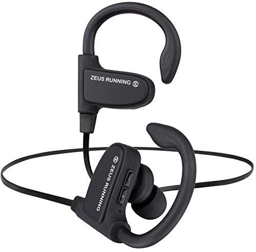 Wireless Bluetooth Earbuds - New Model 2018 - Adjustable Ear Hooks - Best HD Stereo Sound Sport Headphones