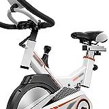 YHRJ Bici de Spinning Bicicletas para el hogar Que absorben los Golpes,Bici estática con Asas de Asiento Ajustables,Bicicleta giratoria con Display,Puede soportar 120 kg