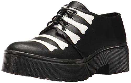 Iron Fist Damen Wishbone Cleated Sole Flat Black, 5 Standard US Width US