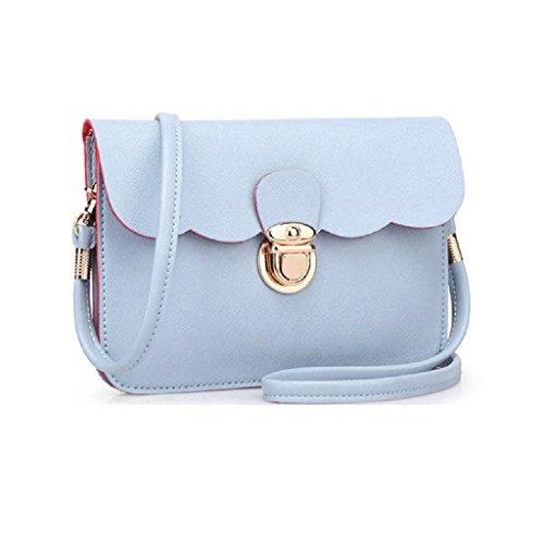 Borsa Familizo Elegant A tracolla in pelle delle donne pochette borsetta Tote borsa Hobo Messenger (Blu)