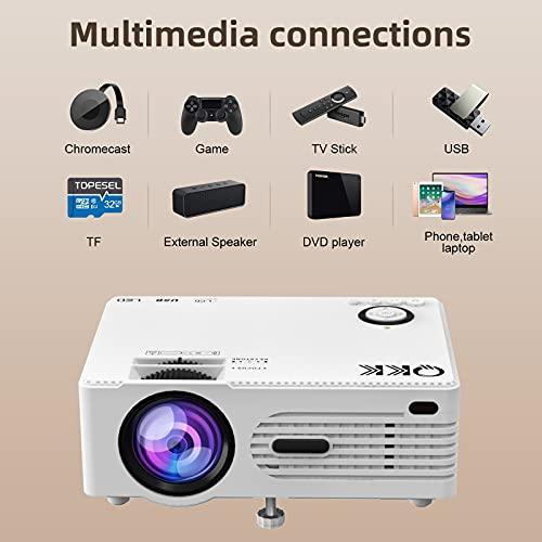 Q K K. 2021 Upgraded 6500Lumens Mini Projector,