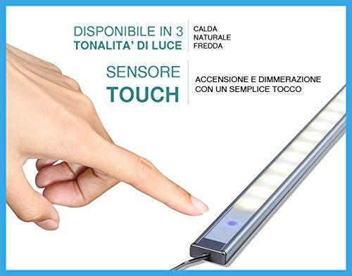 LED-Leiste mit Touch-Lichtschalter–1Meter–mit Samsung 5630LED-Chips, 1500Lumen Luce Fredda