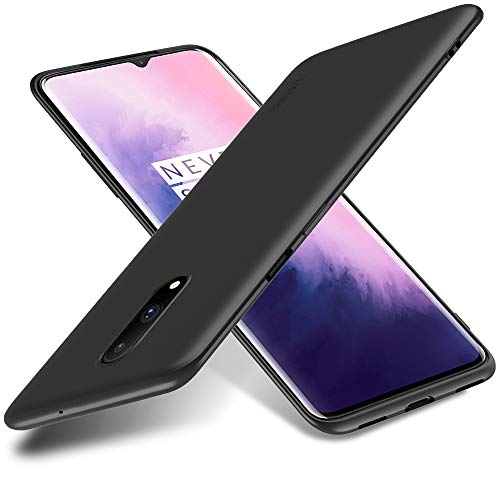 X-level für OnePlus 7 Hülle, [Guardian Serie] Soft Flex Silikon Premium TPU Echtes Handygefühl Handyhülle Schutzhülle Kompatibel mit OnePlus 7 Hülle Cover - Schwarz