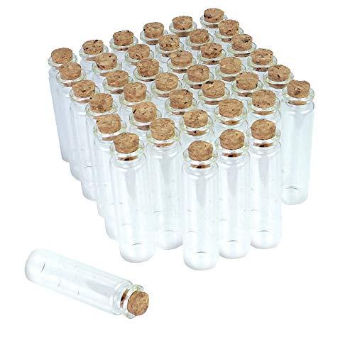 LYTIVAGEN 40 PCS Botellas de Cristal de 20 ml, Botellas de Vidrio Pequeñas con Tapones de Corcho Frascos de Muestra para Decoración de DIY, Aromas, Aceites, Especias, Bodas