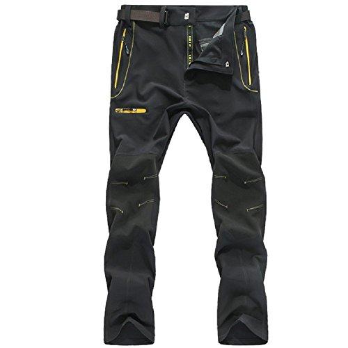 SUKUTU Hombres Pantalones de Senderismo Softshell Al Aire Libre Respirable Resistente al Agua Escalada Esquí Pantalones de Trabajo Pantalones Deportivos de Carga