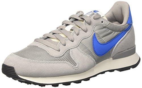 Nike Internationalist, Scarpe Running Uomo, Grigio (Matte Silver/Blue Spark/Sail/Black), 38.5 EU