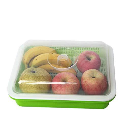 PIGMAMA Youngsown Tabletts, Saatgut-Sprosser-Behälter mit Deckel, Saatgutstartpflanze für die Fortpflanzung, Mini-Propagator für Sojasprossen Alfalfasalat-Sprossen parsimonious