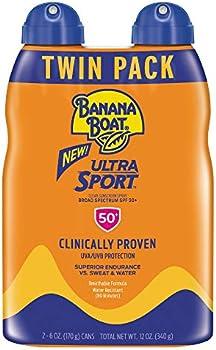 2-Pack Banana Boat Ultra Sport Performance Broad Spectrum Sunscreen