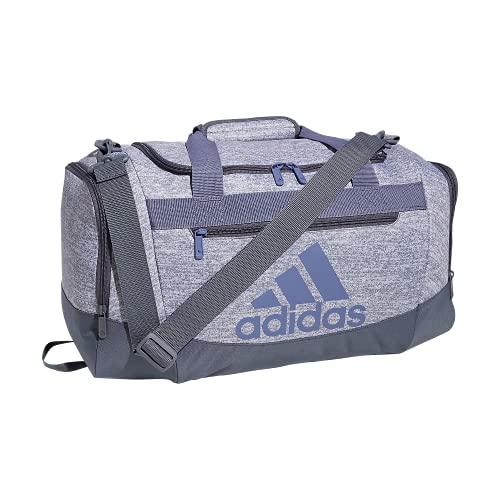Adidas Defender 4 - Borsone piccolo, in jersey, colore: Grigio/Viola Orbit/Grigio Onix, taglia unica
