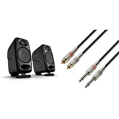 Ik Multimedia Iloud Micro Monitor Speakers, Nero & Adam Hall CablesCavo audio a 2 connettori RCA maschio 1 m
