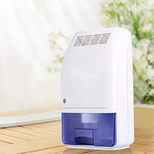 Ejoyous Dehumidifier, 700ML Electric Ultrasonic Mini Portable Safe Air Dehumidifiers to Absorb Moisture for Home Office Bedroom Bathroom Dorm Baby Room, Capacity up to 161 sq ft-White