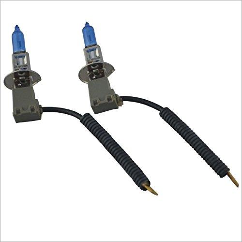 ZGMA H1 Automatique Ampoules électriques 100W Lampe Frontale/Feu Antibrouillard White Black