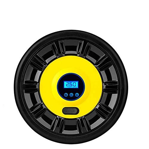 XIXIDIAN Inflador de neumáticos para coches Portátil Portátil Air Pump 12V 120W Pantalla digital Air Bomba de aire Luz LED Luz Inteligente Preset Neumático Presión para todo tipo de bicicletas Coche M