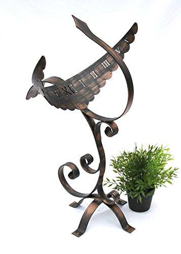 DanDiBo Sonnenuhr Garten Antik Phönix aus Schmiedeeisen Wetterfest 65 cm Gartenuhr Metall