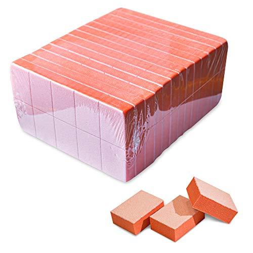 Karlash Nail Mini Orange Buffer Block File 80/100 Grit 2 Sided (130 Count)